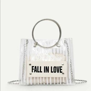 """""""Fall in Love"""" Clear bag with inner pouch"""